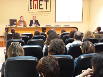 El regidor Joan Martorell amb el ponent Román Castro