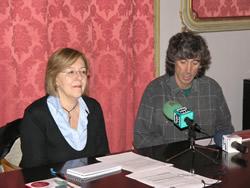 Eugènia Ribalta i Ricart Belascoain, durant la roda de premsa d'aquest matí