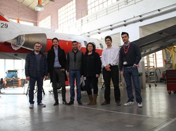 Visita a l'hangar de l'EFAV