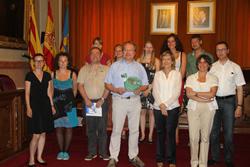 Fotografia del grup, al Saló de Plens