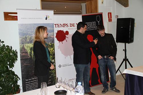 Carles Carbonell i Oscar Villagarcia presenten Temps de Vi amb la presència de Meritxell Falgueras