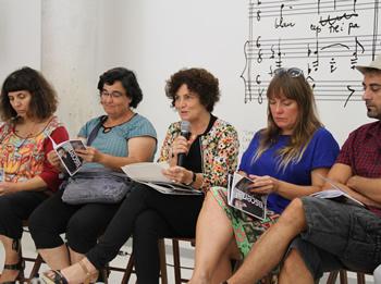 La Regidora de Cultura, Teresa Llorens, aquest matí a la presentació de la nova temporada