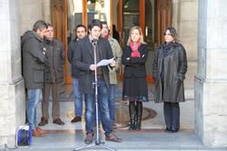 El periodista Joan Ignasi Gómez, va ser l'encarregat de llegir el manifest l'any passat
