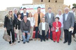 Joan Roca amb la delegació vilanovina a l'acte de cloenda