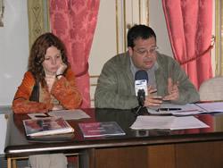 Presentació de l'IMET amb l'alcalde de VNG, Joan Ignasi Elena i la regidora d'Educació i Treball, Míriam Espinàs