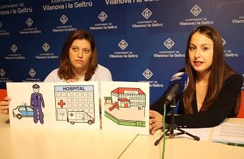 Gisela Vargas i Verònica Masdeu han presentat els actes