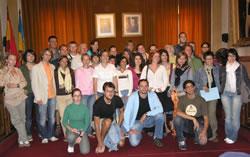 Foto de grup al Saló de Plens