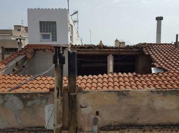 La part de la teulada que s'ha ensorrat
