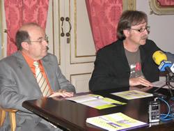 Jordi Gálvez i Tomàs Álvaro a la roda de premsa d'aquest matí