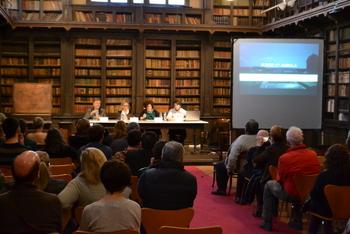 Joan Ignasi Gómez, Paco Escribano, Neus Lloveras i Teresa Llorens a la presentació