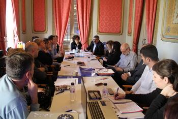 La trobada es va celebrar divendres a la Sala Noble de la Casa Olivella
