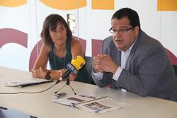 L'alcalde de la ciutat i la primera tinent d'alcalde han presentat el nou espai als mitjans de comunicació
