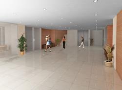 Imatge del vestibul del nou Centre Cívic La Geltrú