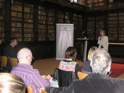 L'alcaldessa, a la presemntació de les lleis òmnibus al museu Balaguer
