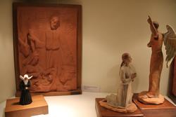 Algunes de les escultures de Fidel Claramunt presents a la mostra