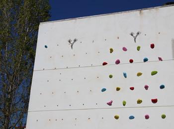detall mur tècnic