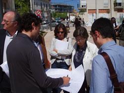 el comitè d'avaluació del nucli antic en un moment de la visita