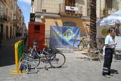 El Bicipark va ser present dissabte a la FIra Ambiental de VNG, amb una recreació en petit format