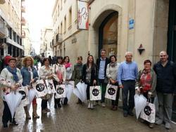 Els comerciants van visitar algunes de les zones comercials de Vilanova i la Geltrú