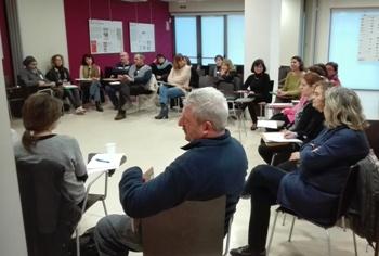 Una de les sessions al centre cívic La Geltrú