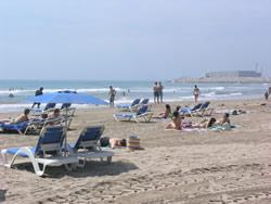 La platja del Far de Vilanova