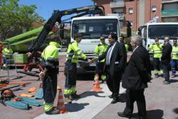 L'alcalde ha saludat els treballadors i treballadores de CESPA
