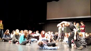 Els alumnes han estat assajant al Principal amb Lluís Pascual