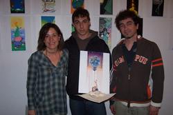 Guillem  Rodríguez, amb Iolanda Sánchez i Jordi Santacana