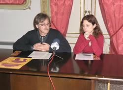 Tomàs Álvaro i Míriam Espinàs, en la roda de premsa
