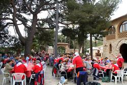 Imatge del dinar celebrat al Càmping Vilanova Park