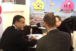 Imatge de la reunió amb Ernest Pérez-Mas, de l'organisme Mobile World Capital