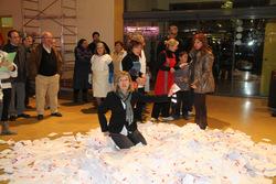 L'alcaldessa, Neus Lloveras, ha triat la butlleta guanyadora