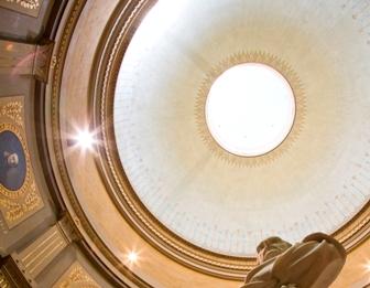 La passejada del dia 30 acaba amb la visita a la cúpula del Museu Víctor Balaguer