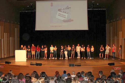 Representants dels centres de secundària participants al Re@cciona
