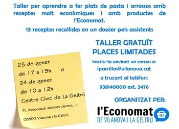 El taller es farà dilluns i dimarts al centre cívic La Geltrú