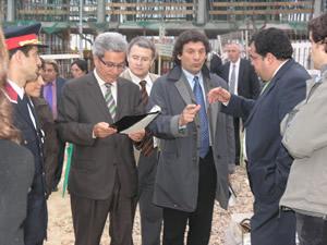 Visita del conseller a les obres de la caserna dels Mossos a VNG