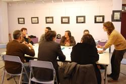 Una de les sessions de treball celebrades al febrer