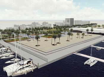 Dibuix de la plaça del Port, un cop acabada tota la urbanització de la zona