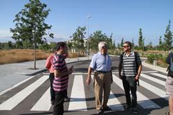 El regidor d'Urbanisme ha visitat la nova zona que aquesta setmana ja quedarà oberta