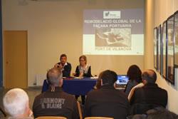 Joan Giribet i Neus Lloveras durant la presentació del Consell