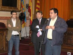 Xavier Carbonell, Manuel Villalante i Joan Ignasi Elena, aquest migdia