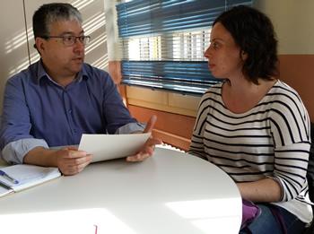 Joan Martorell amb Núria Domingo