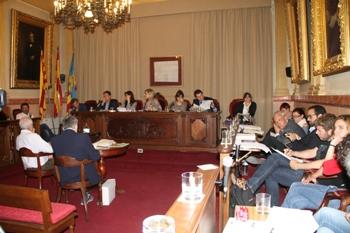 Saló de Plens de l'Ajuntament de VNG, dilluns 13 d'abril