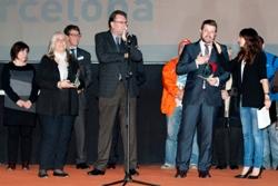 Gerard Figueras recibió el Premio en mi del Ayuntamiento de Vilanova y la Geltrú